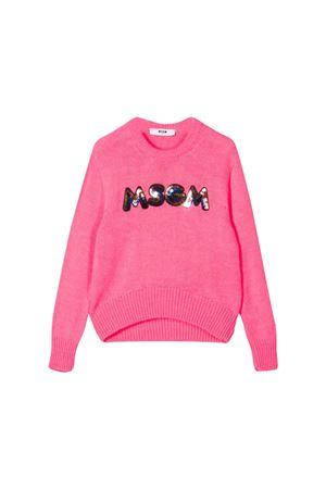 Pink MSGM Kids teen sweater  MSGM KIDS | 1169408113 | 020666134T