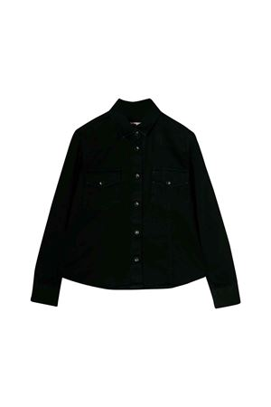 MSGM kids teen black denim shirt  MSGM KIDS | 6 | 020689127T