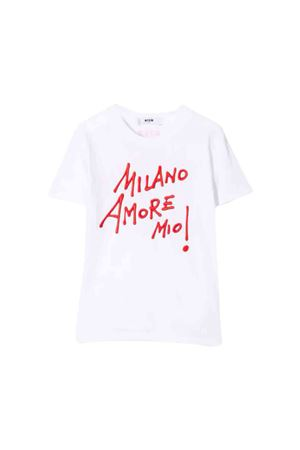 White MSGM Kids T-shirt  MSGM KIDS | 8 | 020696001