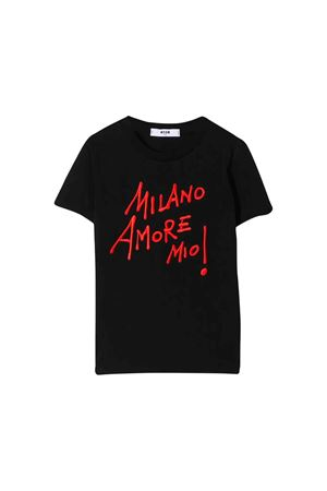 Black MSGM Kids t-shirt MSGM KIDS | 8 | 020696110