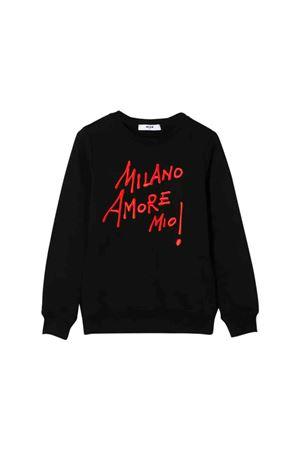 Black MSGM Kids sweatshirt  MSGM KIDS | 1169408113 | 020703110T