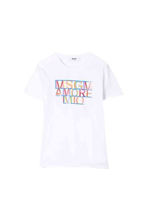White MSGM kids t-shirt  MSGM KIDS | 8 | 020707001