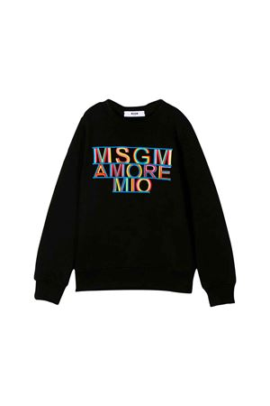 BLACK MSGM KIDS TEEN SWEATSHIRT  MSGM KIDS | 1169408113 | 020708110T