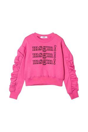 Felpa rosa MSGM kids bambina MSGM KIDS | 1169408113 | 020809045