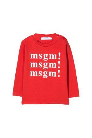 T-shirt rossa MSGM kids MSGM KIDS | 7 | 020985040