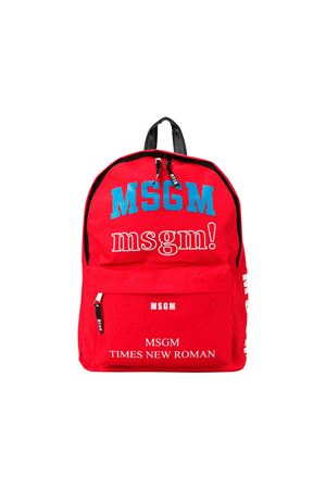 Red MSGM kids dome backpack MSGM KIDS | 279895521 | 020995040