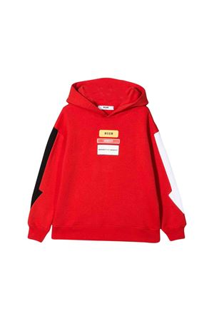 MSGM kids red sweatshirt MSGM KIDS | 5032280 | 021054040