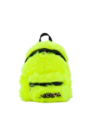 MSGM kids fluorescent yellow backpack  MSGM KIDS | 279895521 | 021234023
