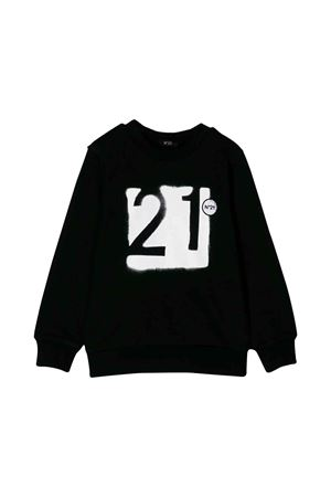 Black sweatshirt N ° 21 kids teen  N°21 KIDS | -108764232 | N21435N00330N900T