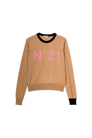 N ° 21 kids sand sweater  N°21 KIDS | 7 | N2145JN00190N700