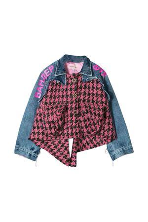 Denim teen lightweight jacket with pink pied de poule Natasha Zinko kids NATASHA ZINKO KIDS | 13 | MNZ40509/86T