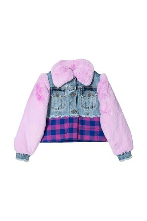 Pink lightweight jacket with fur and denim details Natasha Zinko kids NATASHA ZINKO KIDS | 13 | MNZ40709/86