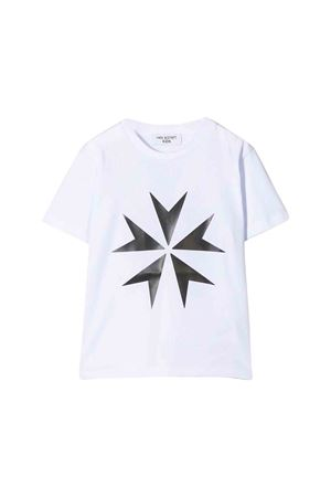 White t-shirt with black frontal press Neil Barrett kids NEIL BARRETT KIDS | 8 | 020575001T