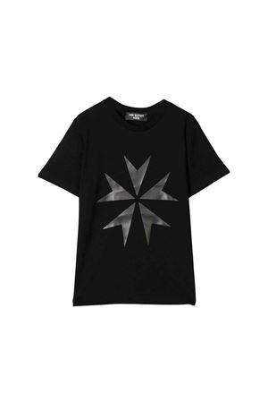 Black teen t-shirt with silver front press Neil Barrett kids NEIL BARRETT KIDS   8   020575110/10T