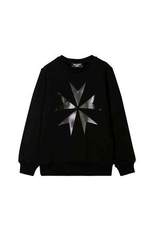 Neil Barrett kids black sweatshirt  NEIL BARRETT KIDS   7   020576110