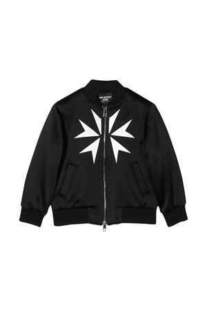 Black Bomber with white press and zip Neil Barrett kids NEIL BARRETT KIDS | 1236091882 | 020581110
