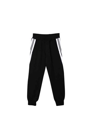 Pantaloni neri con bande laterali bianche Neil Barrett kids NEIL BARRETT KIDS | 9 | 020584110