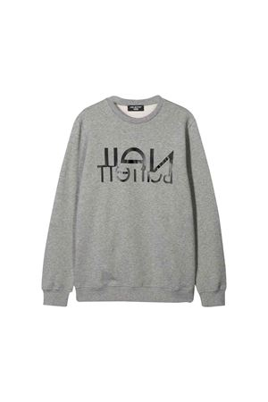 Neil Barrett kids gray sweatshirt  NEIL BARRETT KIDS | 7 | 020600101