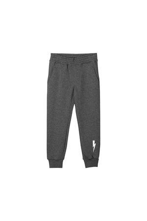 Pantaloni teen grigi con stampa bianca Neil Barrett kids NEIL BARRETT KIDS | 9 | 020605104T