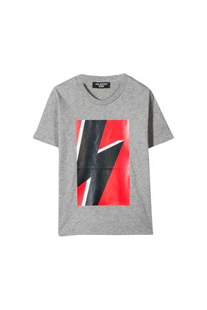 Neil Barrett kids gray t-shirt  NEIL BARRETT KIDS | 8 | 020606101