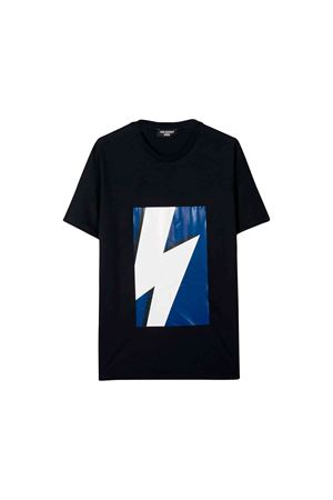 Neil Barrett kids navy blue t-shirt  NEIL BARRETT KIDS | 8 | 020606160