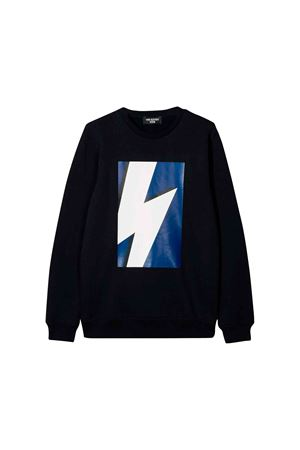 Neil Barrett kids navy blue sweatshirt  NEIL BARRETT KIDS | 7 | 020609160