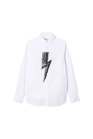 White Neil Barrett kids teen shirt  NEIL BARRETT KIDS | 6 | 020616001T