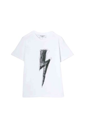 Neil Barrett kids white T-shirt  NEIL BARRETT KIDS | 8 | 020617001