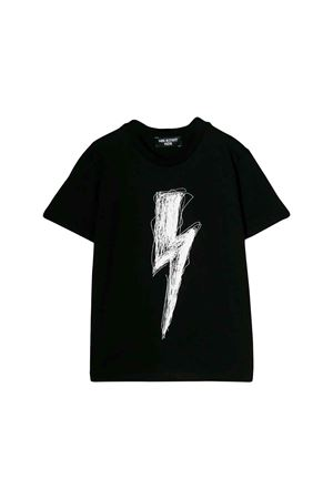 Black Neil Barrett kids teen t-shirt NEIL BARRETT KIDS | 8 | 020617110T