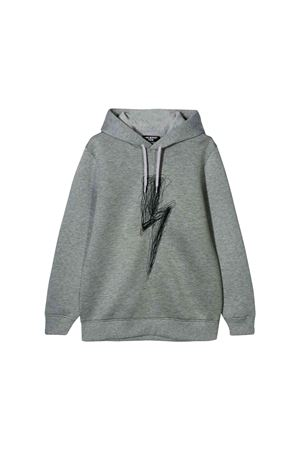Neil Barrett kids gray sweatshirt NEIL BARRETT KIDS | 7 | 020620101