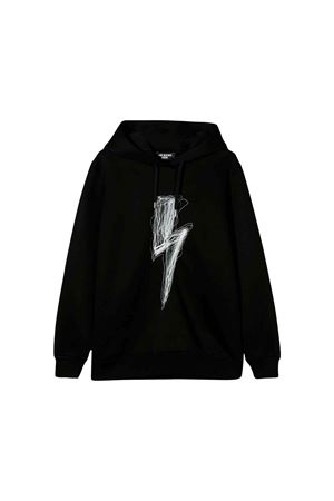 Black Neil Barrett kids teen sweatshirt  NEIL BARRETT KIDS | 7 | 020620110T