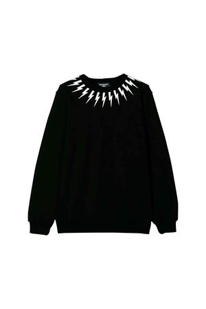 Black Neil Barrett kids teen sweatshirt  NEIL BARRETT KIDS | 7 | 020629110T