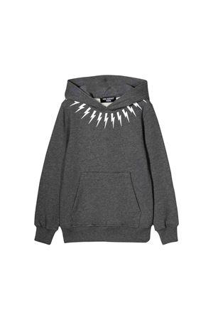 Neil Barrett kids gray sweatshirt  NEIL BARRETT KIDS | 7 | 020630104