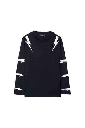 Blue teen shirt with white frontal press Neil Barrett kids NEIL BARRETT KIDS | 7 | 020631160T