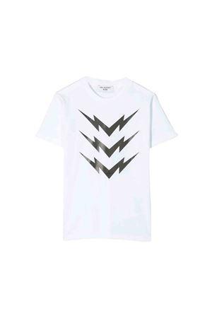 White Neil Barrett kids teen t-shirt  NEIL BARRETT KIDS   8   020633001T