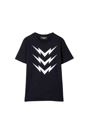 Blue teen t-shirt with white frontal press Neil Barrett kids NEIL BARRETT KIDS | 8 | 020633160T