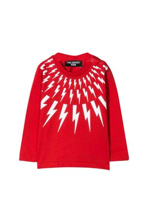 Red shirt with white frontal press Neil Barrett kids NEIL BARRETT KIDS | 7 | 020653040