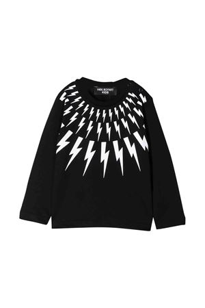 Black shirt with white frontal  press Neil Barrett kids NEIL BARRETT KIDS | 7 | 020653110
