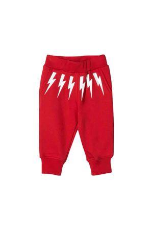 Red trousers with white frontal press Neil Barrett kids NEIL BARRETT KIDS | 9 | 020655040