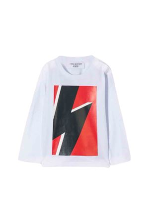 White shirt with multicolor frontal press Neil Barrett kids NEIL BARRETT KIDS | 7 | 020656001