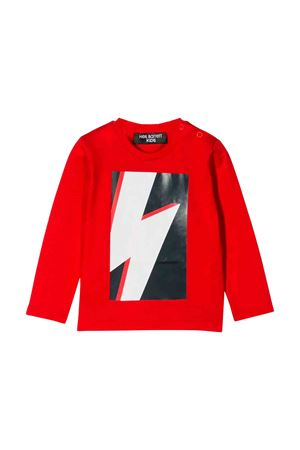 T-shirt rossa neonato Neil Barrett kids NEIL BARRETT KIDS | 5032319 | 020656040