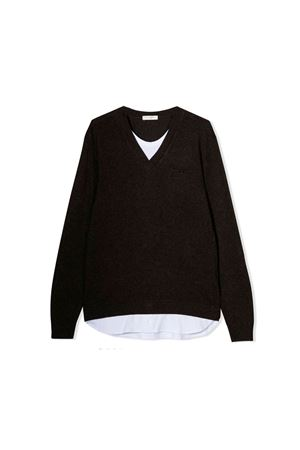 Brown teen shirt with V neck Paolo Pecora kids Paolo Pecora kids | 7 | PP1917MOROT