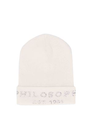 White Philosophy kids cap  PHILOSOPHY KIDS | 75988881 | PJCP04FL98UH0340131