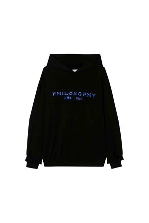 Black Philosophy kids teen sweatshirt  PHILOSOPHY KIDS | -108764232 | PJFE09FE147UH0010006T
