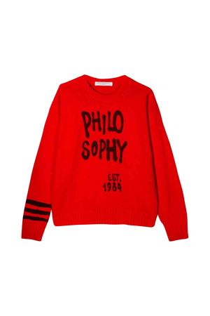 Red Philosophy kids teen sweater  PHILOSOPHY KIDS | 7 | PJMA04FL98UH0320093T