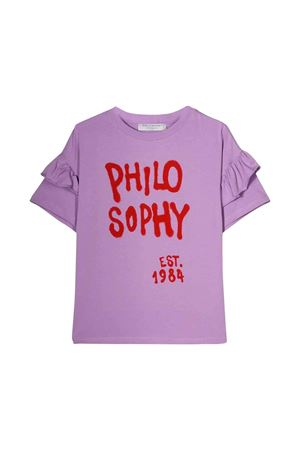 Philosophy kids light purple girl T-shirt  PHILOSOPHY KIDS | 8 | PJTS22JE95BUH0060054
