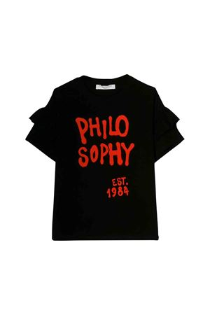 Black Philosophy kids teen t-shirt PHILOSOPHY KIDS | 8 | PJTS22JE95BUH0060056T