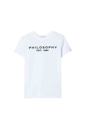 White t-shirt Philosophy kids teen PHILOSOPHY KIDS | 8 | PJTS24JE95BUH0020011T