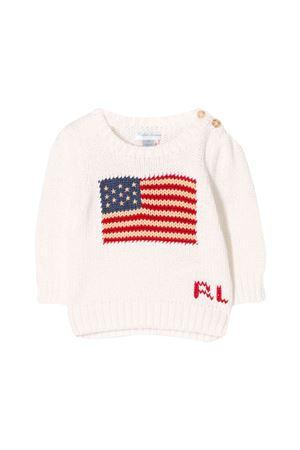 Maglione bianco neonato Ralph Lauren kids RALPH LAUREN KIDS | 7 | 310668609006