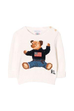 Ralph Lauren kids white newborn sweater  RALPH LAUREN KIDS | 7 | 320669571003